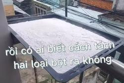 Bố trộn bột nếp vào bột gạo, thanh niên cầu cứu 'nhặt bao giờ xong?'