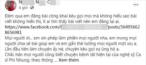 Vạch mặt nữ ca sĩ lợi dụng bệnh tình Phi Nhung kiếm chác riêng?-1