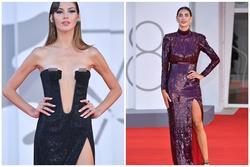 Người mẫu bị rơi váy lộ ngực trên thảm đỏ Liên hoan phim Venice