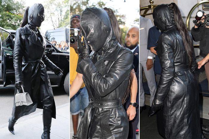 Kim Kardashian xuất hiện với bộ đồ như khủng bố xuống phố-5
