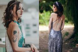 Thí sinh Hoa hậu gây tranh cãi vì xăm kín người, có hình phản cảm