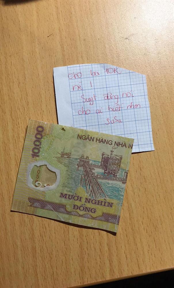 Tờ 10k và mảnh giấy của cô bé cấp 1 khiến cả gia đình bất ngờ-1