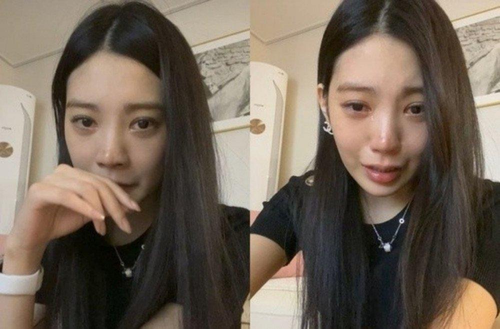 Mỹ nhân Hàn livestream khóc nấc: Cuộc đời tôi đã kết thúc-1