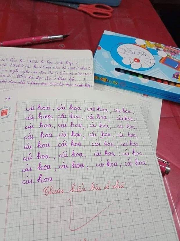 Yêu cầu viết 29 chữ ở bảng chữ cái, nhóc học sinh xử lý khó đỡ-1