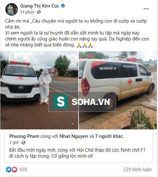 Giang Kim Cúc bị tố cướp xe cứu thương: Đại chiến 2 nhóm từ thiện-1