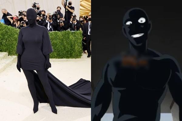 Bộ đồ bóng đêm Kim Kardashian y chang hung thủ truyện Conan-9