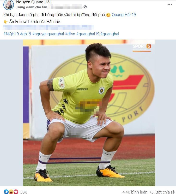 Quang Hải tập thể dục, dân mạng yêu cầu về mặc thêm quần-1