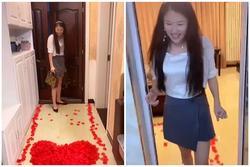 Chồng chào đón bằng hoa hồng, vợ hạnh phúc cho đến khi vào bếp