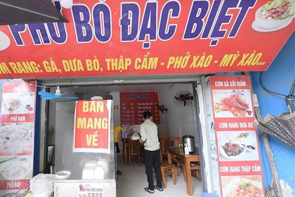 Hà Nội cho phép dịch vụ ăn, uống mang về tại một số vùng xanh-1