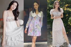 Mỹ nhân Thái Lan phối váy áo hoa đón thu không lo sến súa