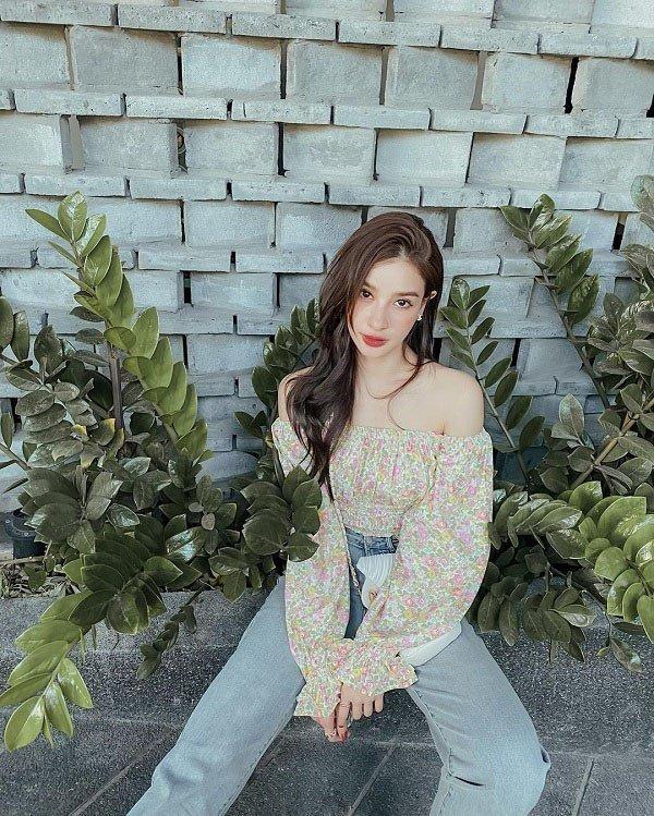 Mỹ nhân Thái Lan phối váy áo hoa đón thu không lo sến súa-7