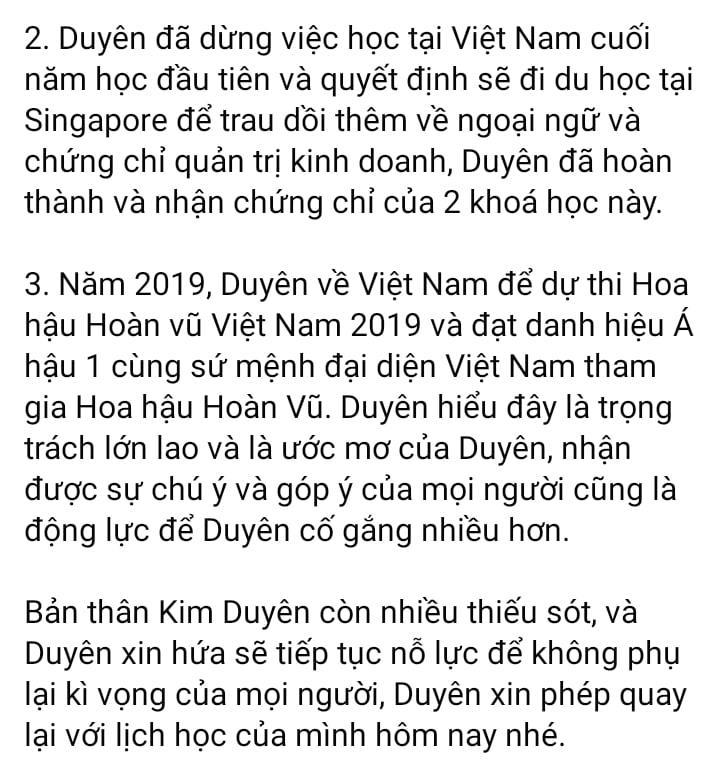 Bị bóc học dốt, tốt nghiệp ảo, Á hậu Kim Duyên nói gì?-3