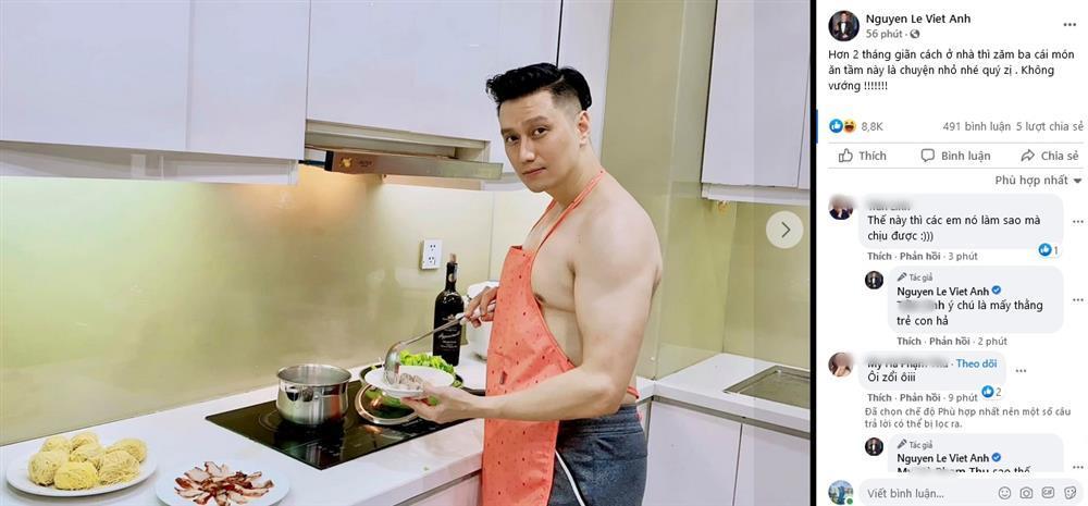 Việt Anh cởi trần vào bếp, lộ chuyện sống với Quỳnh Nga?-2