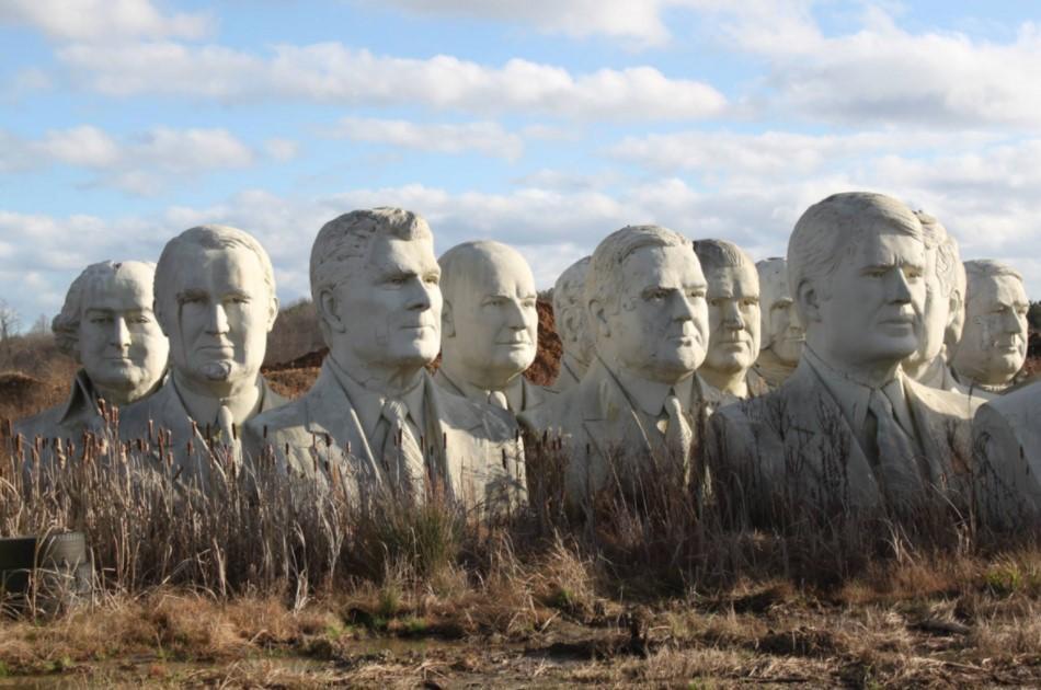 Cánh đồng kỳ lạ chứa 42 tượng bán thân các đời Tổng thống Mỹ-1