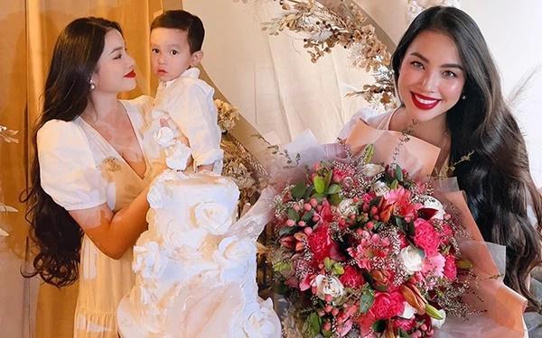 Phạm Hương khoe ảnh bé Max 4 tháng, diện đồ đôi sành điệu-3