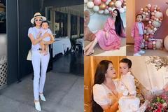 Phạm Hương khoe ảnh bé Max 4 tháng, diện đồ đôi sành điệu