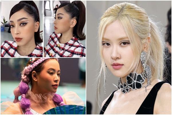Ra mà xem, sao Việt bắt trend kẻ mắt 'lửng lơ' xịn hơn Rosé nhiều!