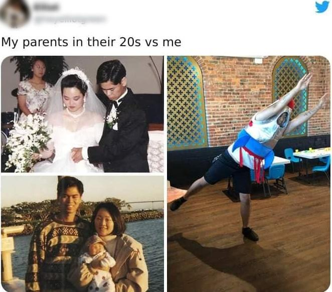 Loạt ảnh ngáo ngơ khi con cái lại cùng độ tuổi với bố mẹ-7