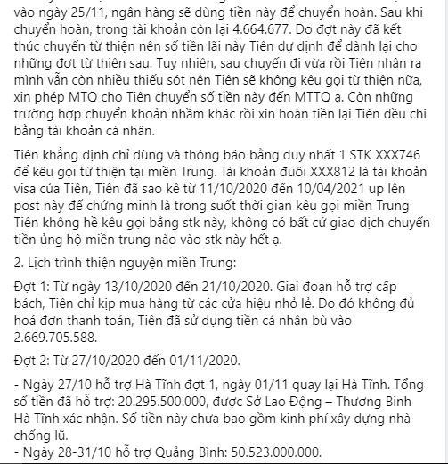 Thủy Tiên tung sao kê online, tuyên bố dừng kêu gọi từ thiện-4