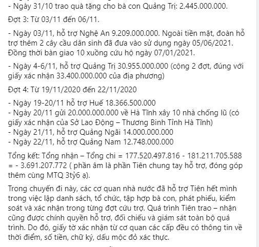 Thủy Tiên tung sao kê online, tuyên bố dừng kêu gọi từ thiện-5