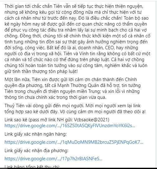 Thủy Tiên tung sao kê online, tuyên bố dừng kêu gọi từ thiện-6