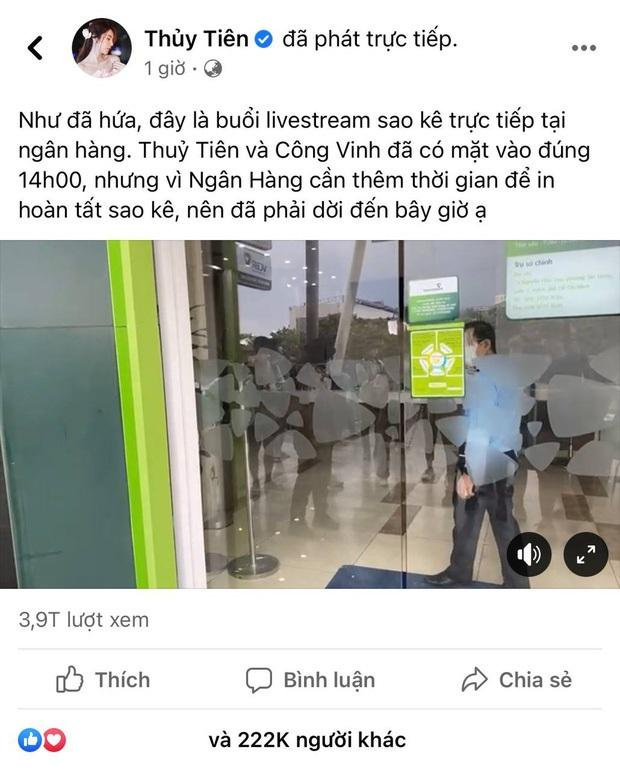Views MV của ca sĩ Thủy Tiên chẳng bằng 11 phút livestream sao kê-1