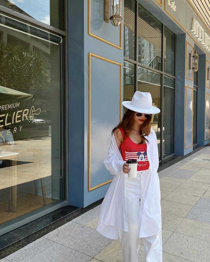 Yến Trang có bộ sưu tập áo sơ mi trắng mix&match cực kỳ đẳng cấp-8