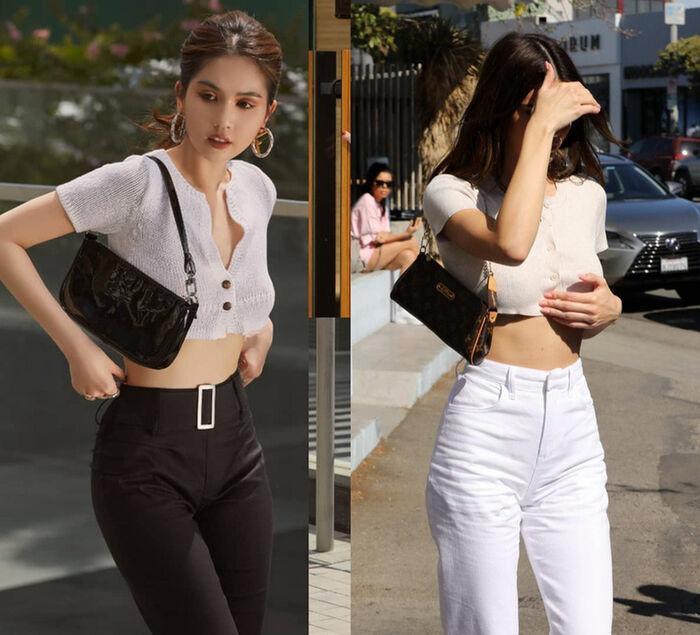 Thời trang đường phố đến thảm đỏ của Ngọc Trinh đều giống Kendall Jenner-1