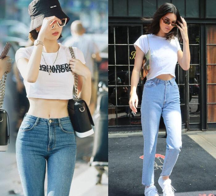 Thời trang đường phố đến thảm đỏ của Ngọc Trinh đều giống Kendall Jenner-2