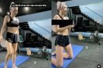 Tóc Tiên lộ vòng 1 'như mẹ bỉm sữa' khi tập gym tại gia
