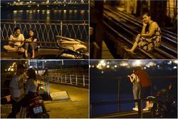 Người dân lên cầu Long Biên chụp ảnh, hóng mát bất chấp giãn cách
