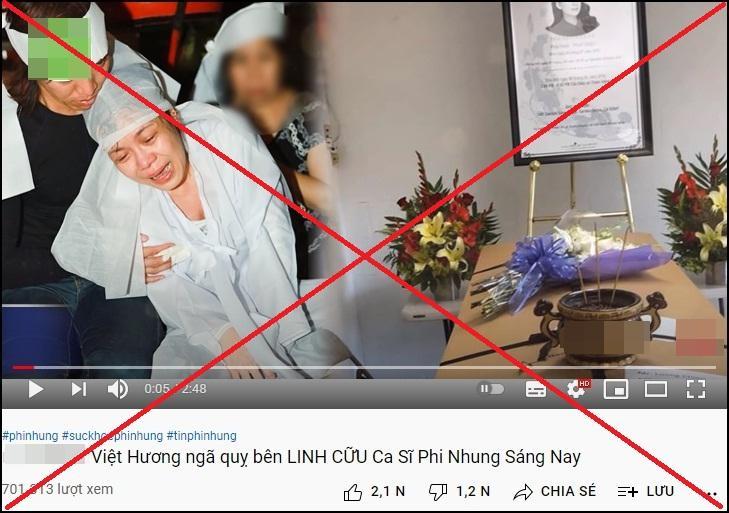 Phẫn nộ ảnh cáo phó giả Phi Nhung, Việt Hương quỵ bên linh cữu-1