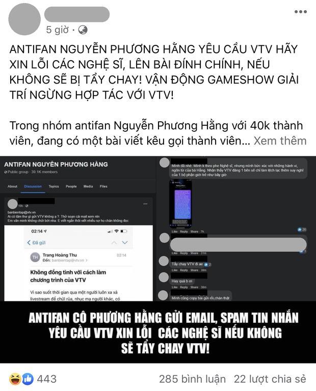 Netizen chỉ trích group 40k antifan đại gia SN 1971 đòi tẩy chay VTV-1
