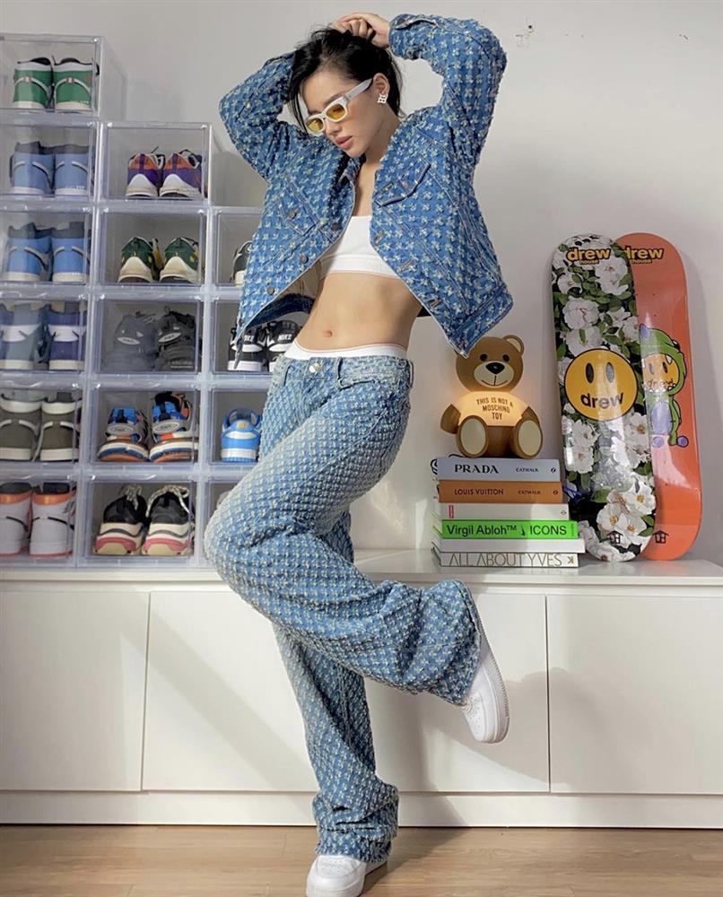 Khánh Linh mix đồ cực đỉnh từ tủ đồ của bạn trai-1