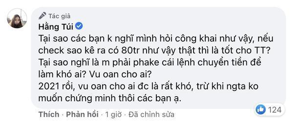 Bị mắng nổ gửi gần 100 triệu cho Thủy Tiên, Hằng Túi tung sao kê-2