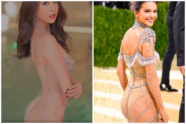 Ngọc Trinh diện bikini trong suốt, sao y bản chính Kendall Jenner?-5