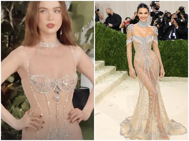 Ngọc Trinh diện bikini trong suốt, sao y bản chính Kendall Jenner?-3