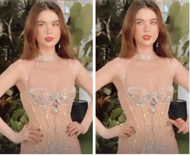 Ngọc Trinh diện bikini trong suốt, sao y bản chính Kendall Jenner?-1