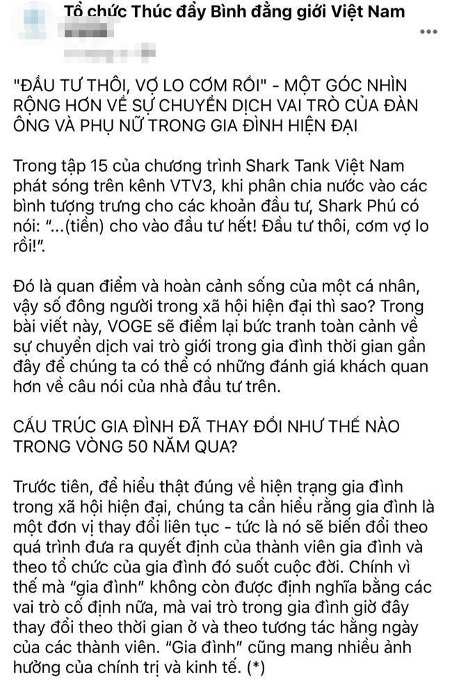 Shark Phú phát ngôn vui mồm tháng trước, tháng này mới bị chỉ trích-1