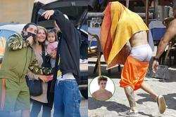 Tưởng lấy vợ trưởng thành hơn, Justin Bieber vẫn mê quần tụt quá lố