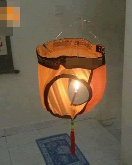 Cười ngã ngửa đèn Trung Thu tự chế phiên bản quần đùi xoay-4