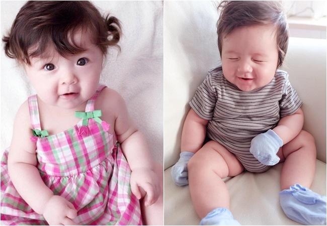 Cặp nhóc tỳ nhà Elly Trần lớn phổng phao, đẹp miễn chê-9