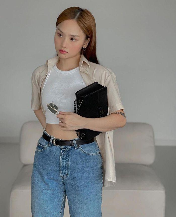 Jun Vũ eo bé bằng nắm tay - Thiều Bảo Trâm sexy tuổi 27-7