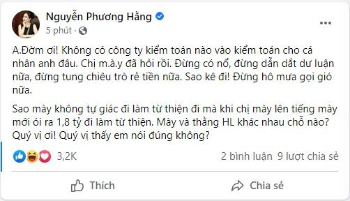Đàm Vĩnh Hưng mời kiểm toán, Phương Hằng mắng đừng nổ-3