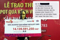 Từ TP.HCM về quê tránh dịch, người phụ nữ trúng Jackpot hơn 14 tỉ đồng