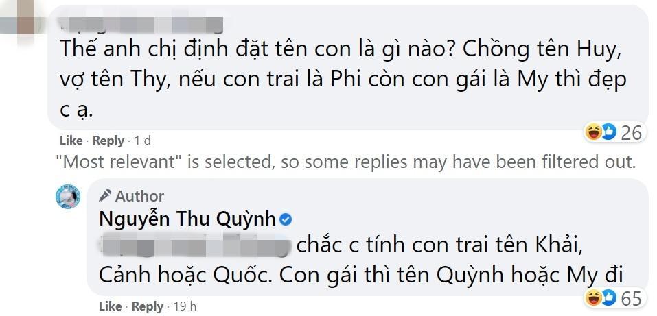 Thu Quỳnh tiết lộ tên con của Thy và Huy Hương Vị Tình Thân-4
