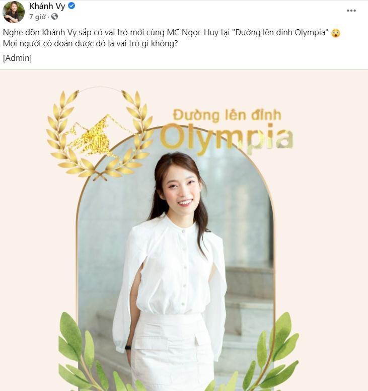 MC Diệp Chi chính thức lên tiếng nguyên nhân dừng dẫn Olympia-1