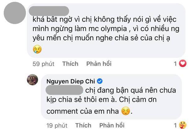 MC Diệp Chi tiết lộ lý do im lặng giữa tin Khánh Vy làm MC mới Olympia-2
