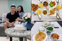Chồng nấu cơm cữ cho vợ trong dịch, 30 ngày không trùng bữa