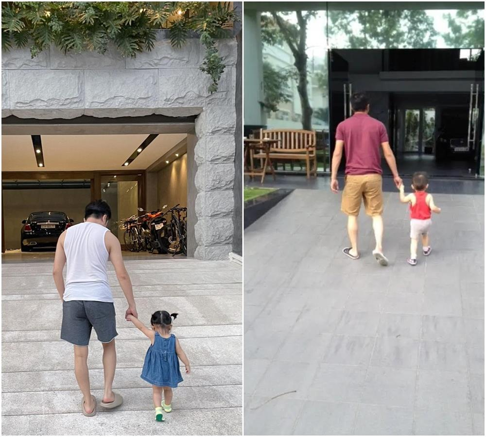 Kim Lý - Cường Đô La trông con: Người kín đáo, người thiếu vải-7